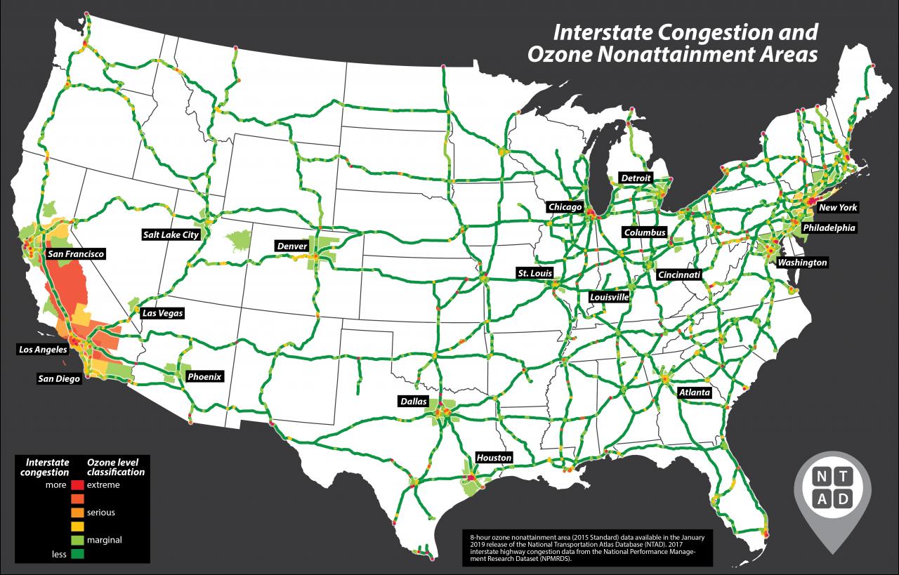 National Transportation Atlas Database Winter 2019 Update | Bureau